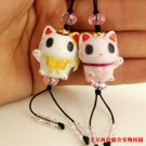 A0025 - Angel Cat Swarovski cell phone chain / cell phone hanging