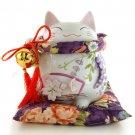 A0065 - Japanese Ceramic Lucky Cat Tao Yue Tong Zi Tenghua