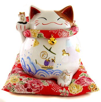 A0069 - Japanese Lucky Cat Hall of the Lok genuine right-hand Dragonfly
