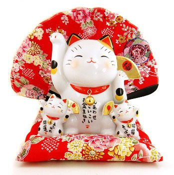 A0070 - Japan's Genuine kiln Lucky Cat Pharmacist