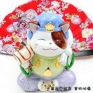A0085 - Genuine Lok Tong Ceramic Lucky Cat Seven Lucky Gods big black days