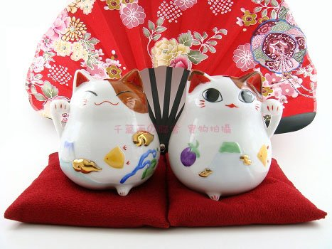 A0092 - Japan Genuine cattery of the Lok Tong Ceramic Lucky Cat