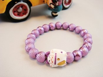 A0129 - Japanese Genuine Pearl wrinkles (Purple)