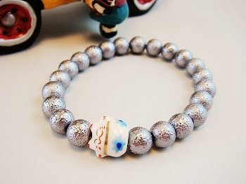 A0133-Japanese Genuine Pearl wrinkles (Silver Grey)