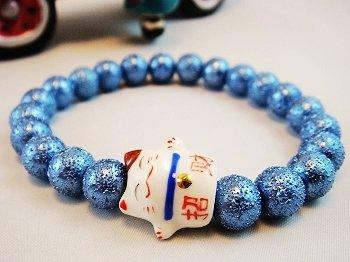 A0137-Japanese Genuine Pearl wrinkles (Blue)
