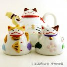 A0197-Japanese Lucky Cat Genuine Tao Yue Tang 3 Pcs