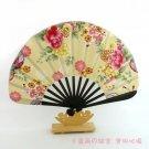 A0204-  Bamboo Kimono fan safflower