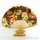 A0213-  Bamboo Kimono fan safflower