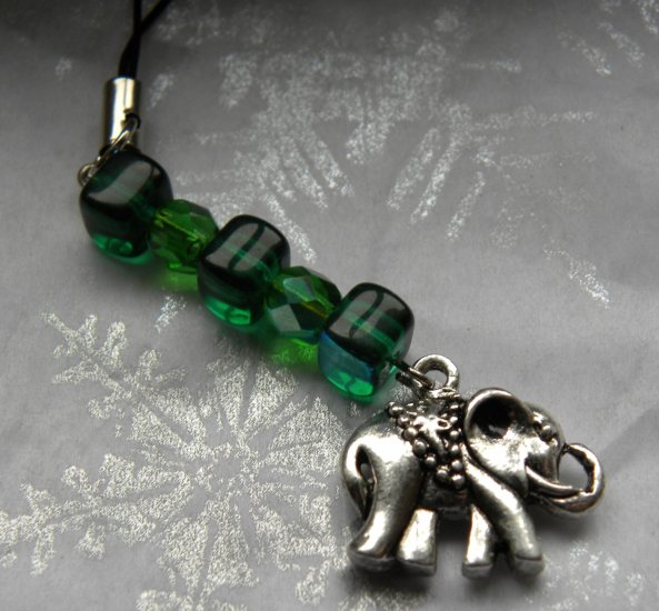 Luck Of The Elephant Cellphone Charm