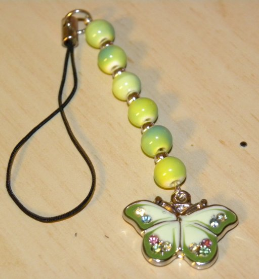 Flying By Butterfly Cellphone Charm