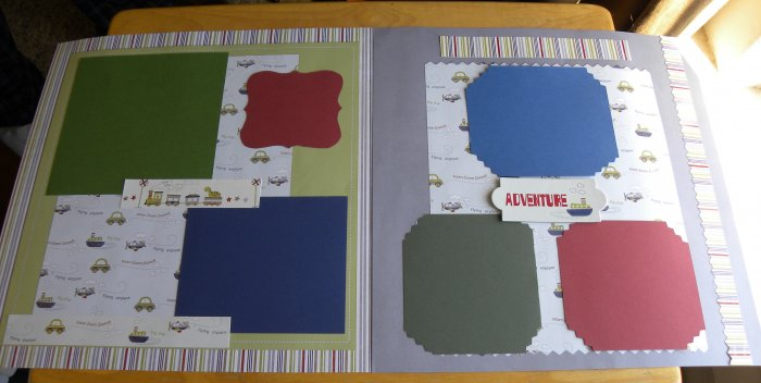 Adventure Little Boy 2 12 x 12 Premade Scrapbook Pages