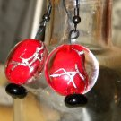Red Dragon Earrings