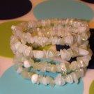 Inspired- New Jade Gemstone Chip Bracelet
