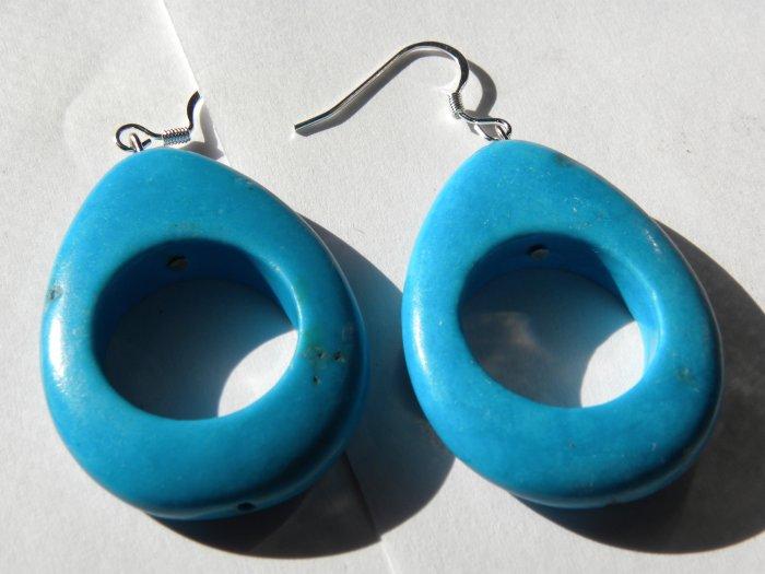 Teal Teardrops Earrings