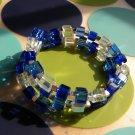 Blue Blocks Bracelet