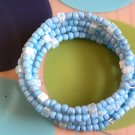 Baby Blue And Flowers Too Bracelet