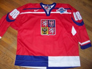 0eda2ecbf7b 2004 World Cup of Hockey Jaromir Jagr Czech Republic Game Jersey
