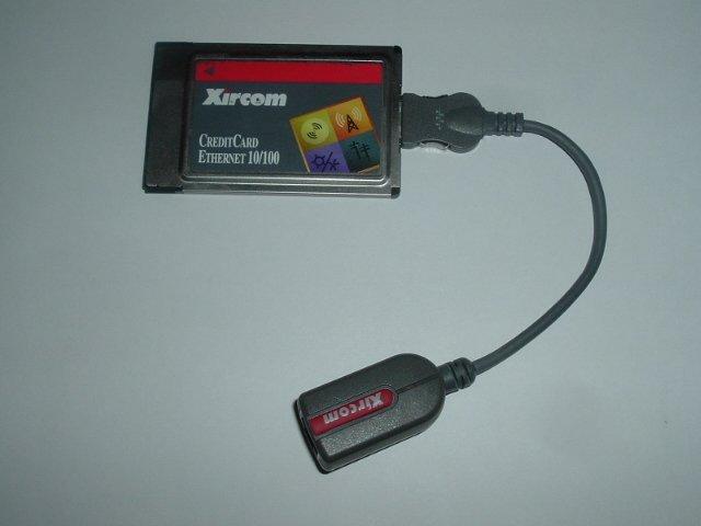 Xircom CE3B-100 NIC pcmcia w/ CABLE