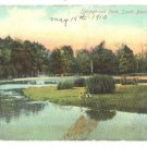 Vtg 1910 SOUTH BEND, IN Springbrook Park Postcard F130