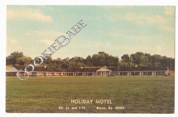 Vtg BEREA, KY *Holiday Motel* OLD Retro Postcard F76