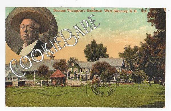 Vtg Denham Thompson Home: WEST SWANZEY NH POSTCARD F80