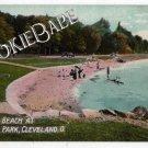 Vtg GORDON PARK-Cleveland, OH Bathing BEACH Postcard 54
