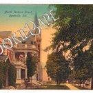 Vtg RUSHVILLE, IN Postcard N Perkins Street Postcard 92