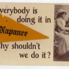 Old NAPANEE, IN Vtg Postcard Greeting with Pennant F53