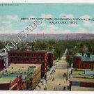 Vtg 1908 KALAMAZOO, MI  National Bank Bldg OLD POSTCARD