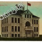 1914 North Dakota SCHOOL HOUSE MAXBASS Postcard F95