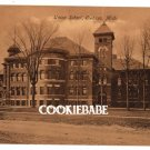 1908:Pre-Central UNION SCHOOL, OWOSSO, MI Postcard L151
