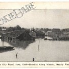 1908 KANSAS CITY Deep FLOOD Shanties Photo Postcard F57