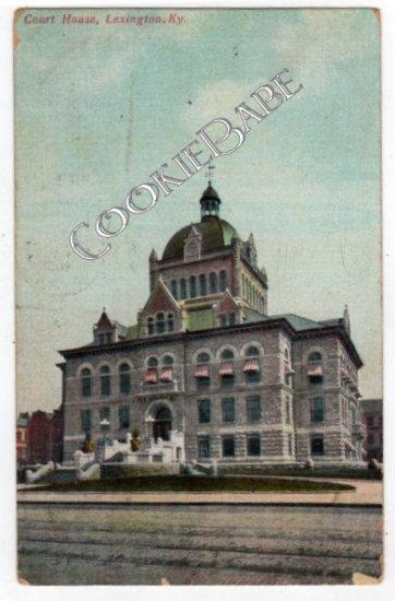 1908 COURT HOUSE, LEXINGTON, KY Postcard  F24