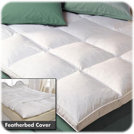 NEW! FULL SIZE NONI Super Support FEATHER BED & COVER