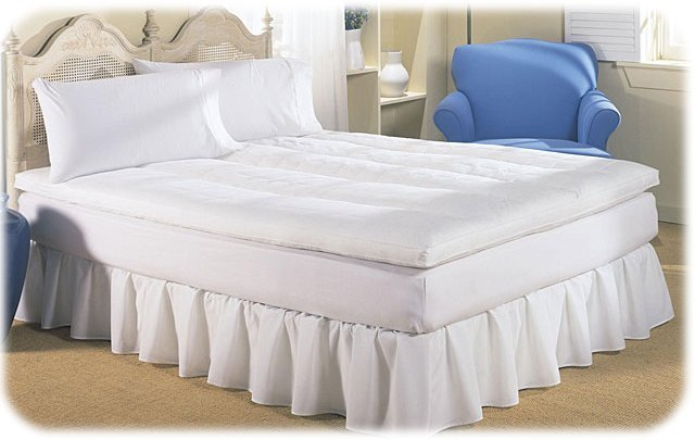 NEW! DREAM ON REVERSIBLE FEATHERBED Mattress Pad TWIN
