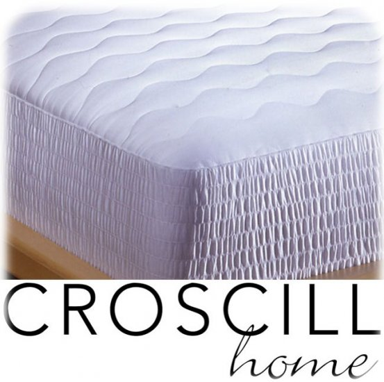 NEW CROSCILL 400 TC Pima Cotton Mattress Pad KING SIZE