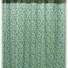 NEW Jessica McClintock BECALL Aqua/Brown Shower Curtain