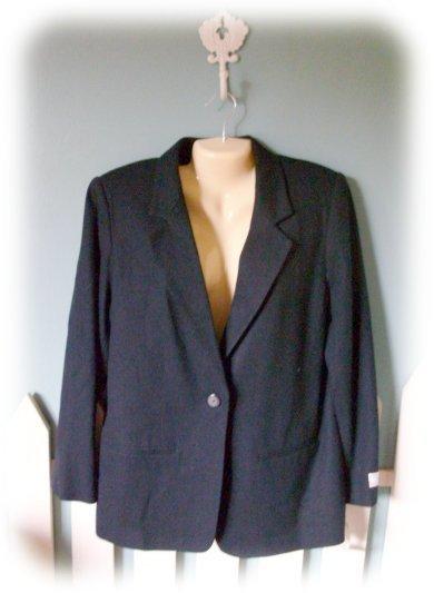 NEW *WORTHINGTON*  Black 100% Wool Ladies BLAZER Size