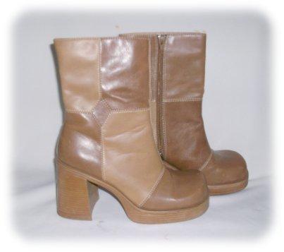 LEI *PATCHWORK* PLATFORM BOOTS Size 8 Shoes BOHO