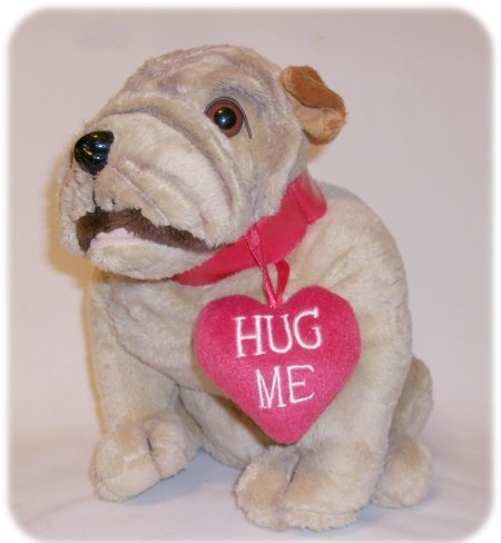 "Animated Plush SINGING BULL DOG ""Can't Stop Loving You"""