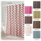 NEW Mariachi Dot Fabric Shower Curtain MULTI on WHITE