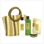 38066 Coconut Lime Bath Set with Tote Bag
