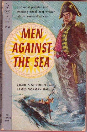 Men Against the Sea, Vintage Paperback, Adventure, Classics, Pocket Books #2358