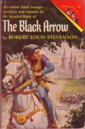 The Black Arrow, Stevenson, Adventure, Classics, Vintage Paperback Pocket Book #J-57