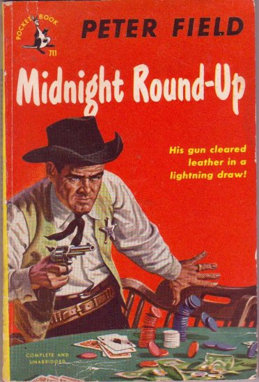 Midnight Round-Up, Vintage Paperback, Pocket Book #711, Western