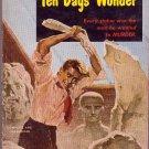 Ten Days' Wonder, Ellery Queen, Vintage Paperback, Mystery, Pocket Book #740