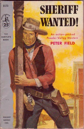 Sheriff Wanted!, Peter Field, Vintage Paperback, Western, Pocket Books #1173