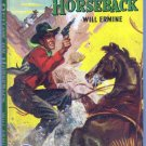 Outlaw On Horseback, Will Ermine, Vintage Paperback Book, Dell Map Back #284, Western