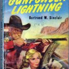 Gunpowder Lightning, Vintage Paperback Book, Dell Map Back #437, Western