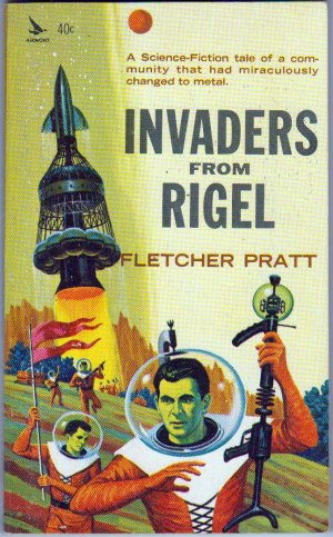 Invaders From Rigel, Pratt, Vintage Paperback Book, Airmont #SF4, Science Fiction